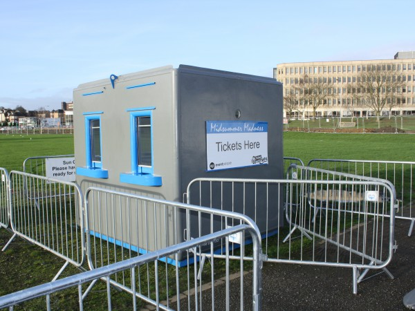 Secure ticketing booths delivered to your  site